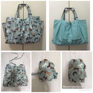 Recycle/reversible tote bag