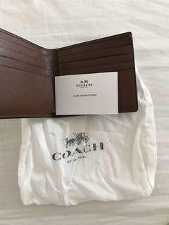 Authentic coach Men's leather wallet