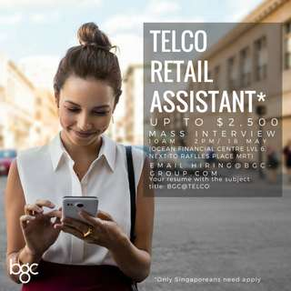 Telco Retail Assistant (Up To $2,500)