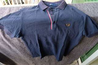 Fred Perry Polo Shirt navy  Size M