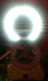 Kipas Portable + Ring Light