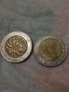 uang antik logam 1000 kelapa sawit