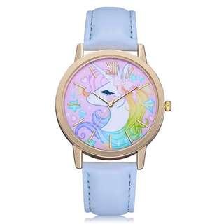 Unicorn 🦄 baby blue leather watch (Instock)