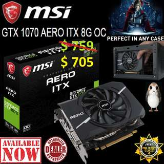 "MSI GTX 1070 AERO ITX 8G OC.. ( Offer While Stock Last... ) ""Till.. 21 May..18"""