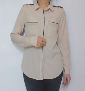 The executive nude blouse