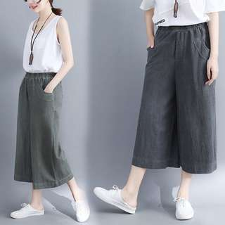 Plus Size 2018 fashion casual retro female European and American trade pants skirt