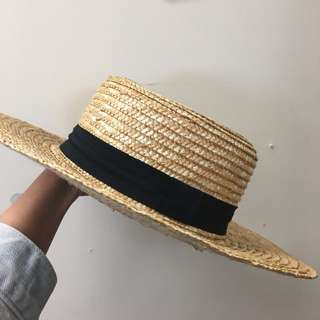 H&M 草帽 寬邊帽 太陽帽 禮帽