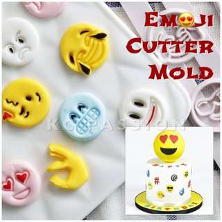 😍 EMOJI • SMILEY CUTTER MOLD TOOL SET  Cake Decorating Tool for Cookies • Fondant Cake & Cupcake • Bread Dough • Pastry • Sugar Craft • Jelly • Gum Paste • Polymer Clay Art Craft •