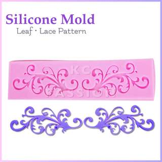 🎂 LACE • LEAF SYMMETRICAL SILICONE MOLD TOOL for Pastry • Chocolate • Fondant • Gum Paste • Candy Melts • Jelly • Gummies • Agar Agar • Ice • Resin • Polymer Clay Craft Art • Candle Wax • Soap Mold • Chalk • Crayon Mould •