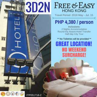 Free & Easy Hong Kong at O' Hotel