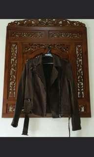 Woman biker jacket