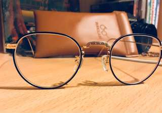 Gold & black metal vintage eyeglass by ID Toky 中金復古架 余文樂