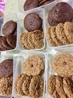 chocolate coffee cookies & oatmeal chocochip cookies