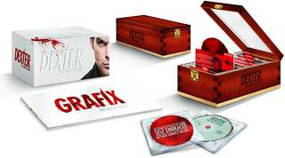 Dexter The Complete Series Bluray set |  Blood-slide box packaging | 25 discs