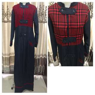 Gamis jeans stretch