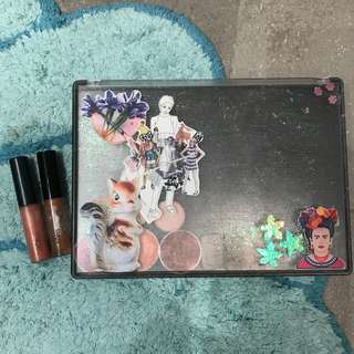 Z palette, eyeshadow and MAC lipglosses