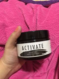 Activate Charcoal and Bentonite Clay Mask