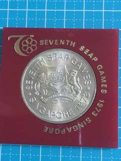 Singapore Silver Coin $5 year 1973