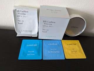 BNIB Laneige BB Cushion Whitening SPF 50+ PA+++ With FREE Gift