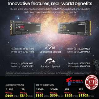 "SSD 970 EVO NVMEe M.2  "" Start Order your World Fastest SSD Today while Stock Last.. again.."""
