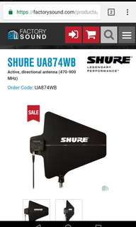 shure UA874 WB active directional antenna
