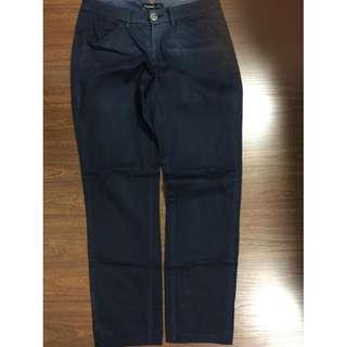 Mango Basics womens pants jeans slacks US 1 navy blue