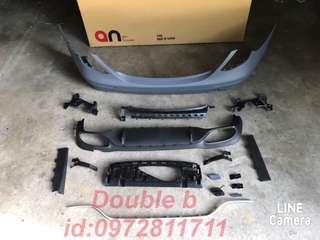 Double b BENZ W213 AMG 前保桿 後保桿 側裙 AN品牌大包圍 E200 E250 E300 E43 密合度超讚