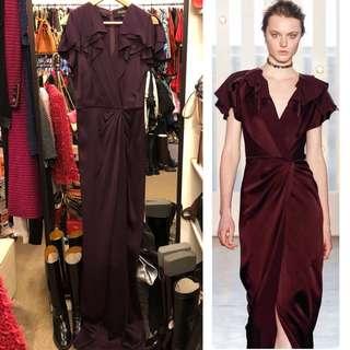 長身裙 Jenny Packham burgandy long dress size UK 10