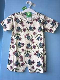 全新 純棉 花包屁衣(L號=90碼)嬰兒連身衣 爬服 兔裝,非背心 T恤 洋裝
