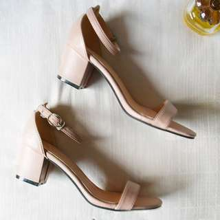 Sienna Nude Low Heels By Buckle Up
