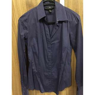 H&M womens office purple long sleeves size 32