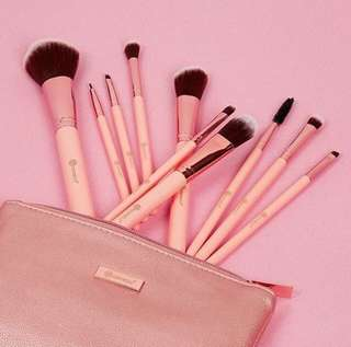 [✨BH COSMETICS✨] Pretty in Pink - 10 Piece Brush Set with Cosmetic Bag Preorder Po Spree