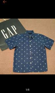 🚚 GAP 男童 海軍風 短袖襯衫 8-9