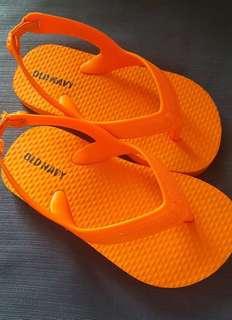 OLD NAVY --- Orange Baby Slippers