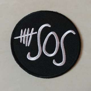 5 Seconds of Summer - Logo Round Woven Patch Band Merch