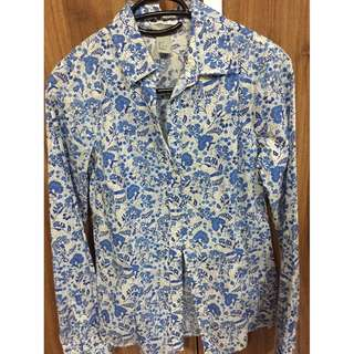 H&M womens floral casual long sleeves size 32
