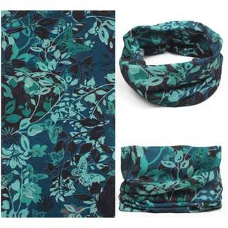 Multi Scarf HS-F28 - Green Floral