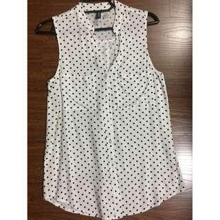 H&M Divided womens polka dot sleeveless blouse 32