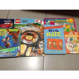 6 for $10. Lego, beast quest, big nate, barney, golden goose. Cards folder