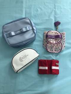 Laneige / Vera Wang Princess / Mount Alvernia / Clarins Make Up Cosmetic Travel Pouch Pencil Case