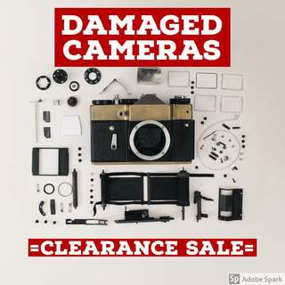 Damaged cameras clearance