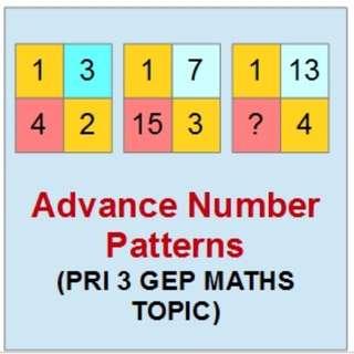 Pri 3 GEP Maths Topic: Advance Number Patterns