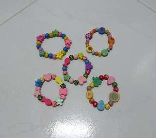 Colorful wooden bracelet