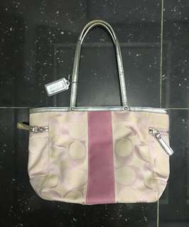 Preloved COACH pink tote