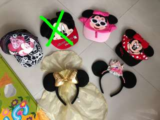 Disney mickey and Minnie Caps and Hairbands