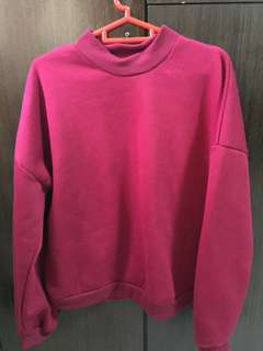 wine red pullover