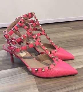Valentino Rockstud Heels 桃紅色女神鞋👠 100% Real and New 可免費陪同到專門店驗貨