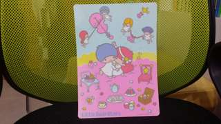 Sanrio 1976 年 twin stars 膠墊板 罕有 全新 絕版 無花痕