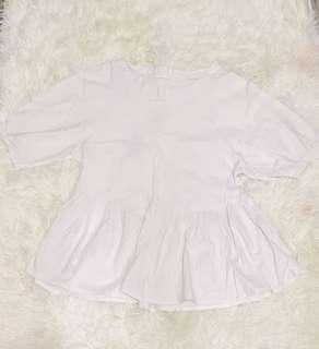白色鬆身上衣