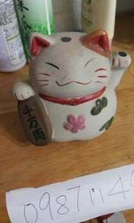 🚚 出清撿便宜~二手擺飾出清 陶瓷招財貓擺飾